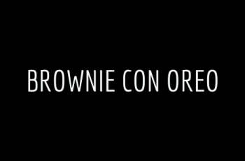 Brownie con Oreo