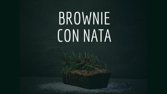 Brownie con nata