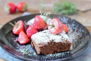 Brownie con fresa